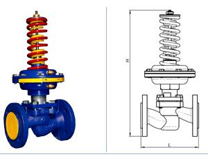 Регулятор давления после себя со встроенным импульсным механизмом, Кv до 63 м3/ч